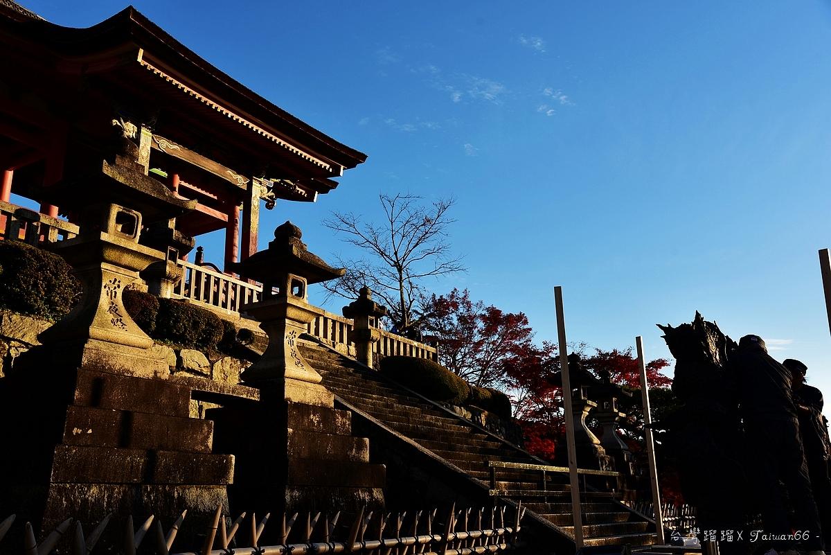 夕陽西下的清水寺
